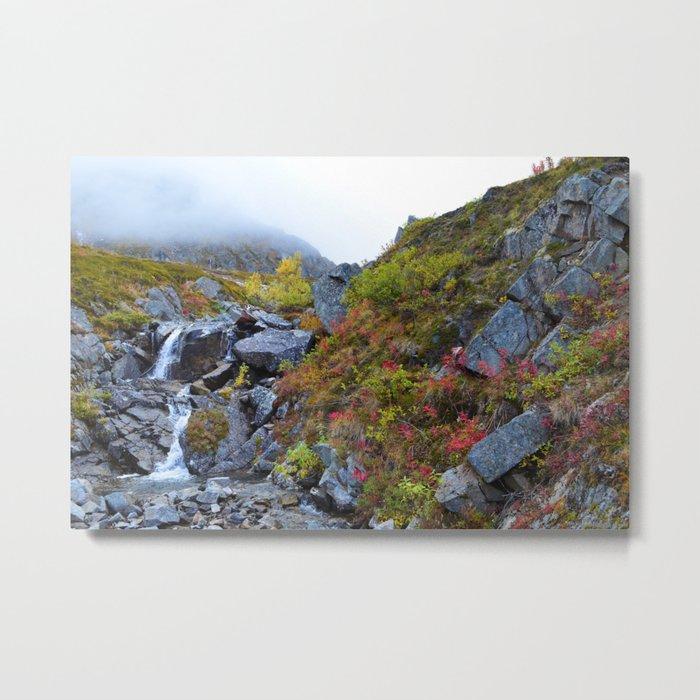 Independence Mine Waterfall Metal Print