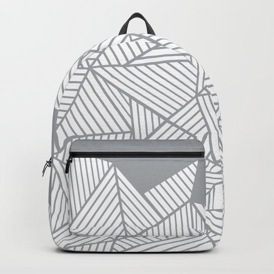 Abstract Mountain Grey Backpack
