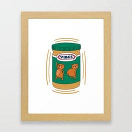 Peanut Butter Vibes - Smooth Framed Art Print