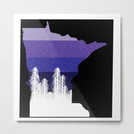 Purple Winter Metal Print