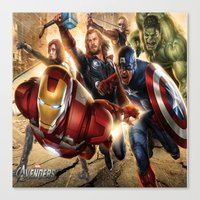 avenger Canvas Prints featuring The Avenger by Tania Joy