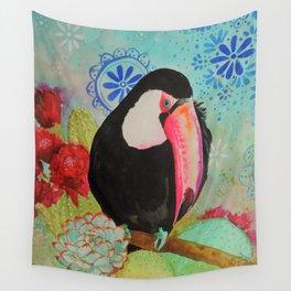 pico roso tucan Wall Tapestry