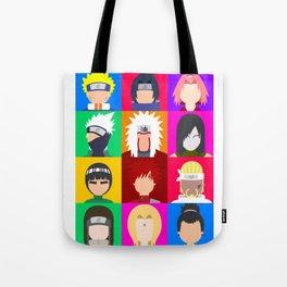Naruto Shippuden Minimalist Characters Tote Bag