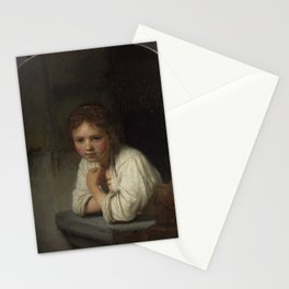 Rembrandt - Girl at a Window (1645) Stationery Cards