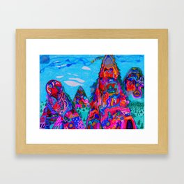 Talking Mountains Framed Art Print