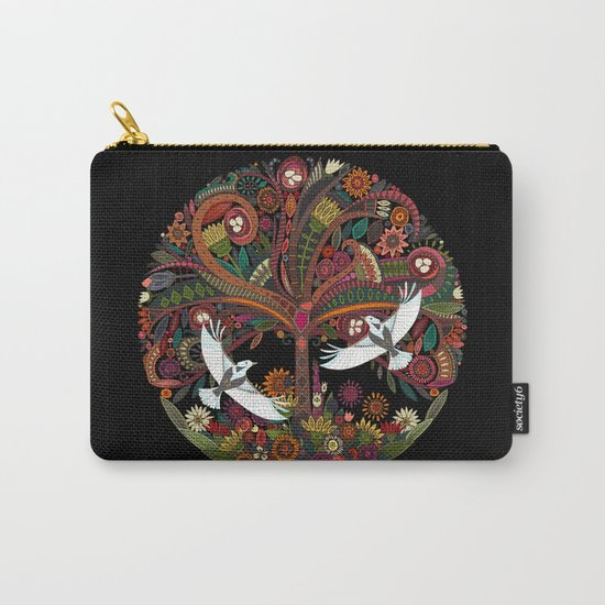 tree of life black Carry-All Pouch