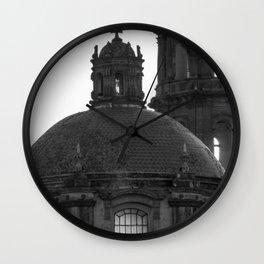 Dome black & white Wall Clock