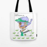 crocodile Tote Bags featuring Crocodile by Natali Koromoto
