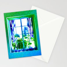 Cool Blue Window Stationery Cards