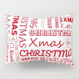 Christmas Typography Pillow Sham