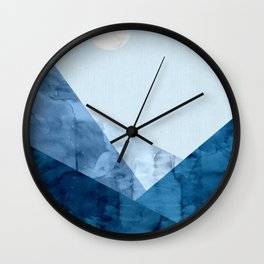 Landscape watercolor collage I Wall Clock