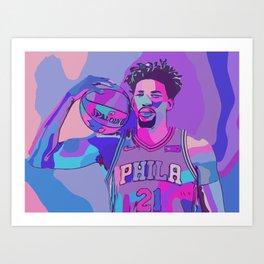 Basketball Embiid Art Print