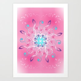Music Notes In Pink Art Print