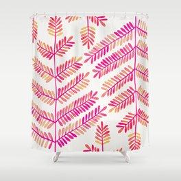 Leaflets – Pink Ombré Palette Shower Curtain