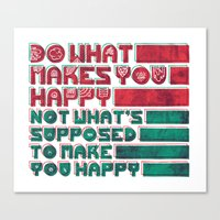 be happy Canvas Prints featuring Happy by Hector Mansilla