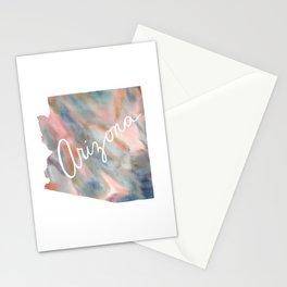 Arizona Dreams Pastel Map Stationery Cards