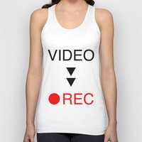 parks and rec Tank Tops featuring video rec by Takeru Amano