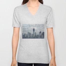 NYC Skyline 2012 Unisex V-Neck