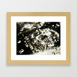 Bubble Splash Framed Art Print