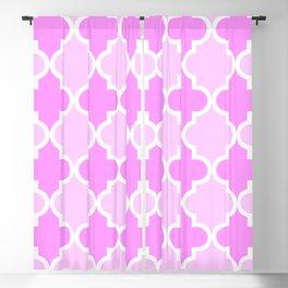 Quatrefoil - light pink dual Blackout Curtain