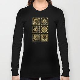 Talavera Mexican Tile – Gold Palette Long Sleeve T-shirt