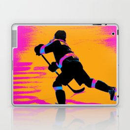 He Shoots! - Hockey Player Laptop & iPad Skin