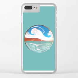 Painting of the Ocean on a Penny Print Clear iPhone Case