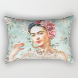 Frida's Exotic Cat Rectangular Pillow