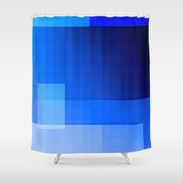 must be blue Shower Curtain