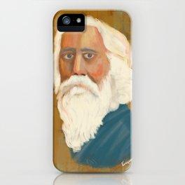 Portrait of Rabindranath Tagore iPhone Case