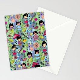 Japanese girls Stationery Cards