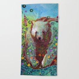 Fireweed Bear Beach Towel