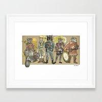 steampunk Framed Art Prints featuring Steampunk  by Felis Simha