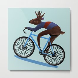 'Tis the season to be cycling Metal Print