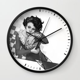 Queen of Brains Wall Clock