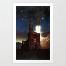 Poster for the International Space University session in Strasbourg Art Print