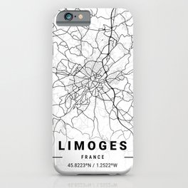 Limoges Light City Map iPhone Case