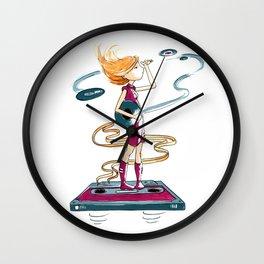 Vinyl Girl Wall Clock