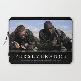 Perseverance: Inspirational Quote and Motivational Poster Laptop Sleeve