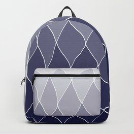 Navy blue ombre Abstract Backpack
