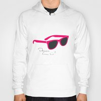 darren criss Hoodies featuring Darren Criss Glasses by byebyesally