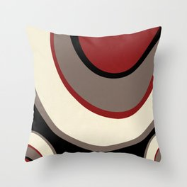 """""""Abstract Retro Waves"""" Throw Pillow"""