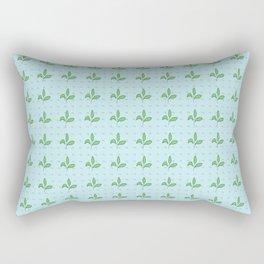 Leaves and Boomerangs Rectangular Pillow