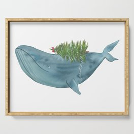 Christmas whale Serving Tray
