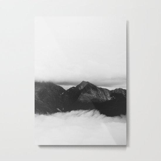 mountain (black and white) Metal Print
