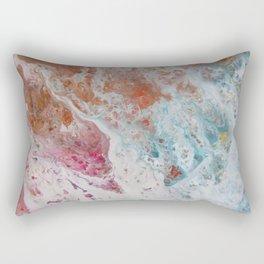 WHITE WASH | Fluid abstract art by Natalie Burnett Art Rectangular Pillow