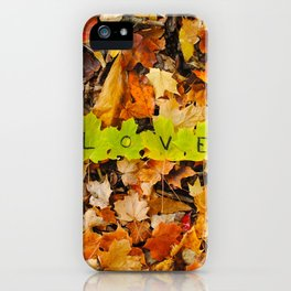 Love in the Fall Leaves iPhone Case