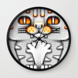Cat Totem Pixel Art Wall Clock