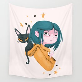 Twitchy, Witchy Girl Wall Tapestry