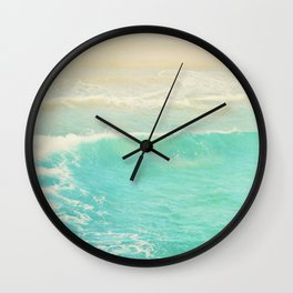 beach ocean wave. Surge. Hermosa Beach photograph Wall Clock